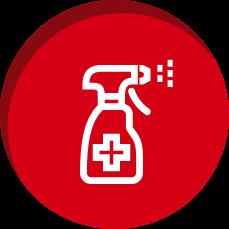Ícone Higienize-o sempre após o uso   TYLENOL®