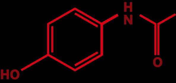 Fórmula estrutural do paracetamol | TYLENOL®