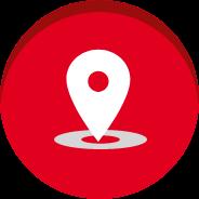 Ícone de localização indicando o endereço da sede da Johnson & Johnson Brasil