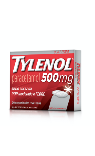 Produto relacionado TYLENOL® 500mg | TYLENOL®