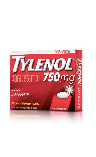 Produto relacionado TYLENOL® 750mg | TYLENOL®
